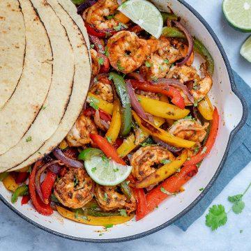 15 minute Shrimp Fajitas