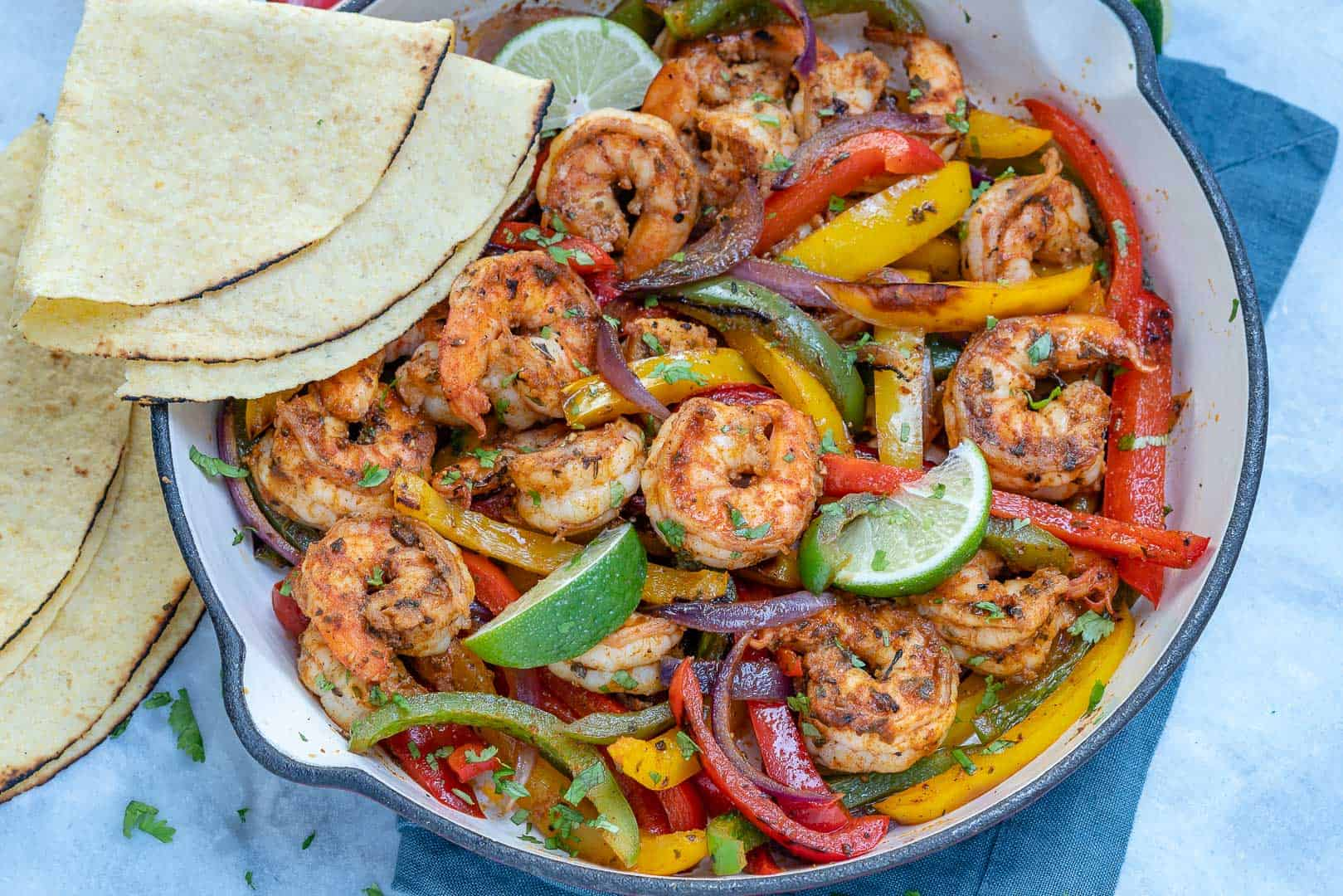 healthy Shrimp Fajitas