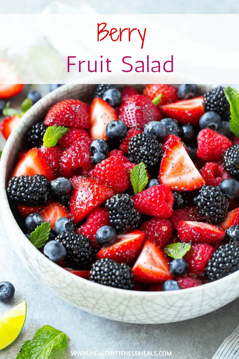 Mixed Berry Fruit Salad | Fruit bowl | Fruit Salad | Fruit recipe | Salad Recipe | #salad #saladrecipe #fruitsalad