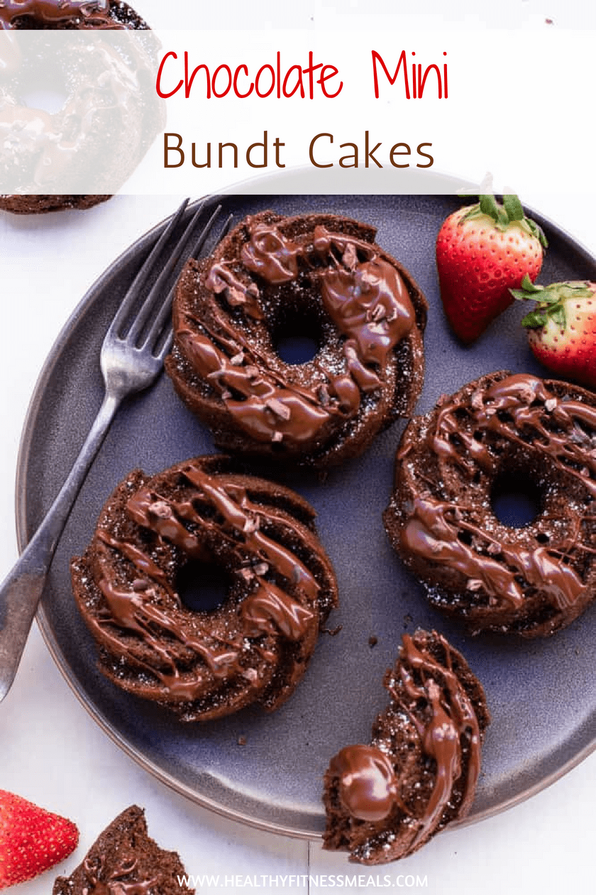 Mini Chocolate Bundt Cakes | Chocolate Cake | Healthy Bundt Cake | Bundt Cake Recipe | #healthycake #healthybundtcake #bundtcake
