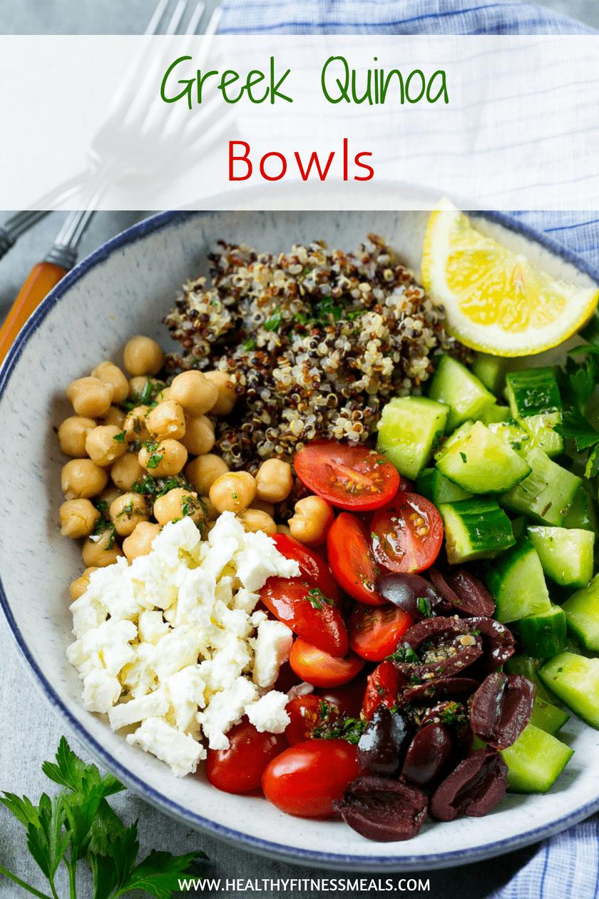 Greek Quinoa Bowls | Greek Salad | Greek Bowl | Greek Recipe | Quinoa Recipe | #healthy #quinoa #greekrecipe