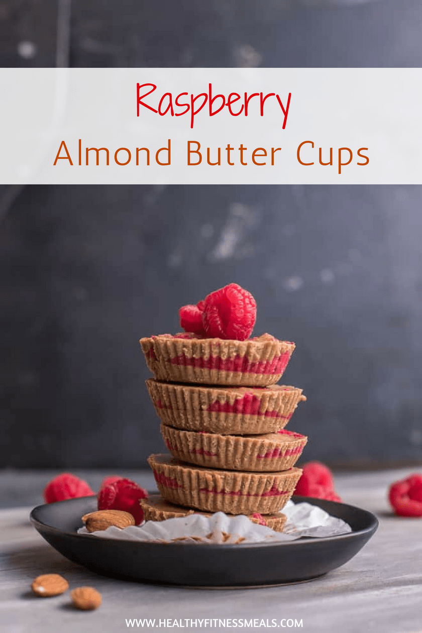 Raspberry Almond Butter Cups