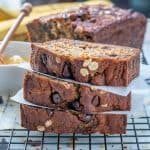Healthy Oatmeal Chocolate Chip Banana Bread