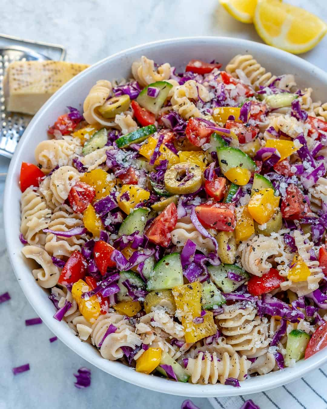 easy vegetarian Pasta Salad