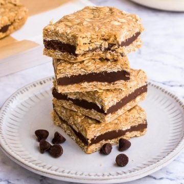 Chocolate Filled Oat Bars