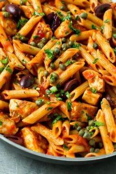 Chicken Pasta Puttanesca