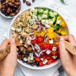 easy and healthy greek salad recipe