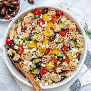 15 minute Greek Pasta Salad