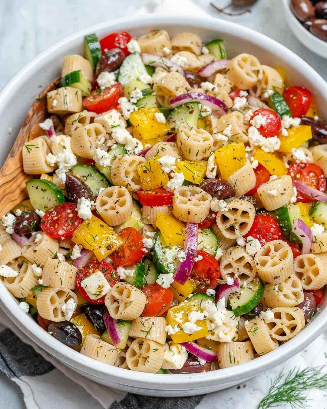 15 minute Greek Pasta Salad