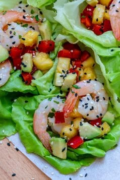 Easy Hawaiian Shrimp Lettuce Wraps