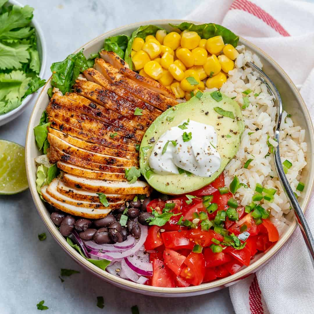 The Best Chicken Burrito Bowl Recipe Healthy Fitness Meals