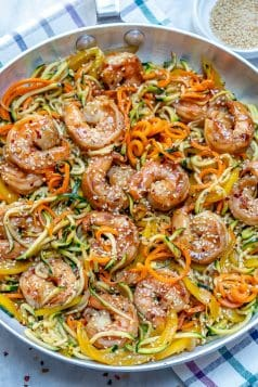 Asian Shrimp Zucchini Noodles Recipe