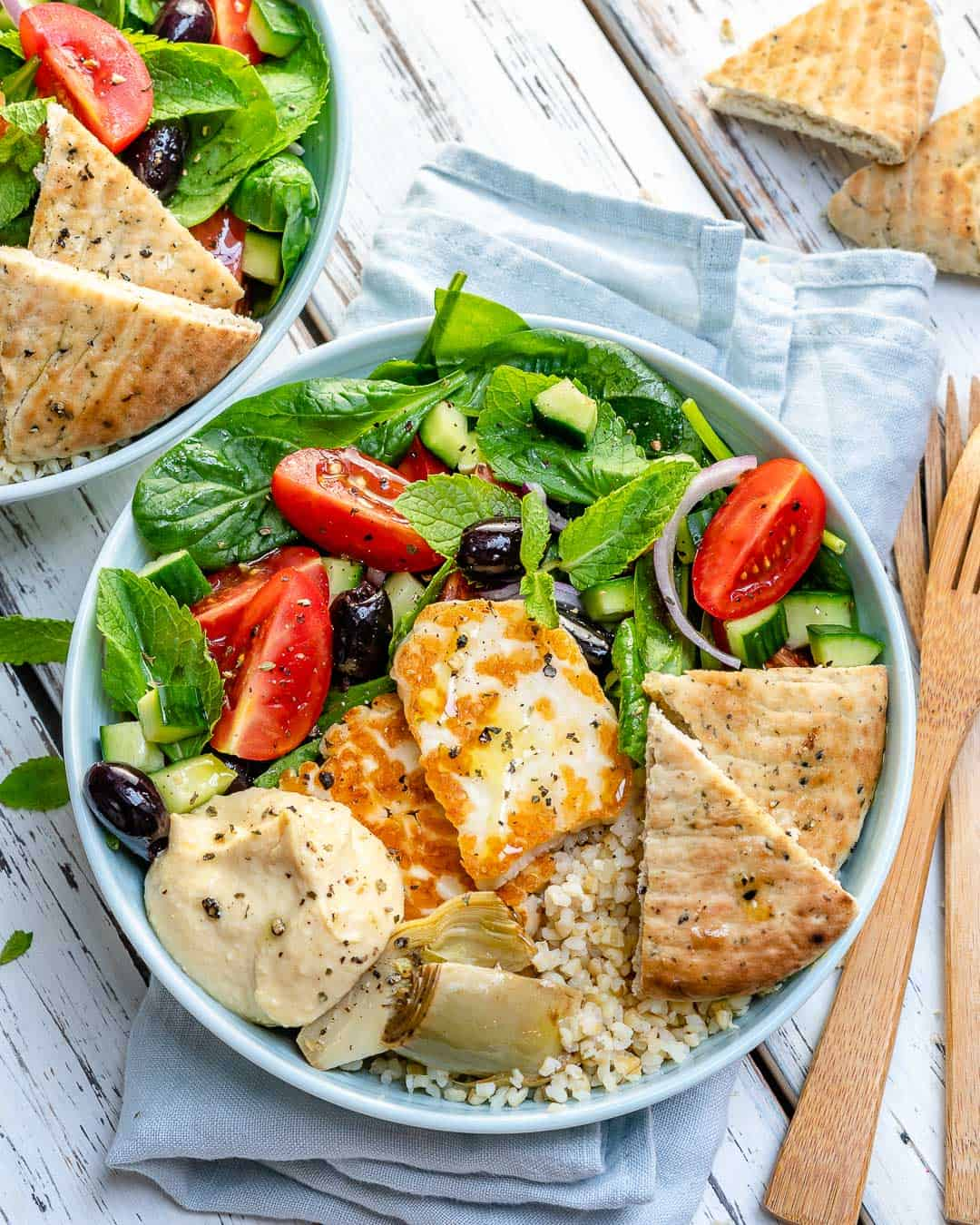 Greek salad bowls