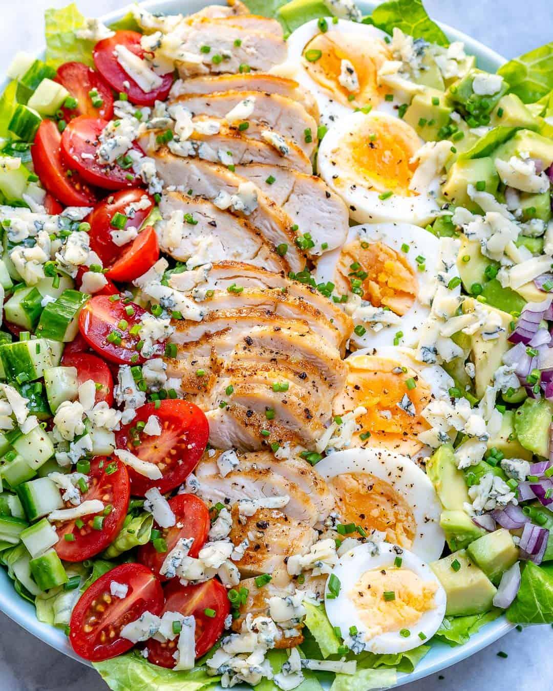 close up Cobb salad recipe