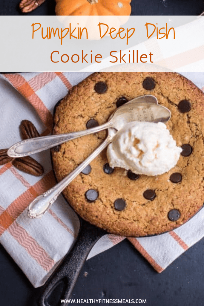 Pumpkin Deep Dish Cookie Skillet