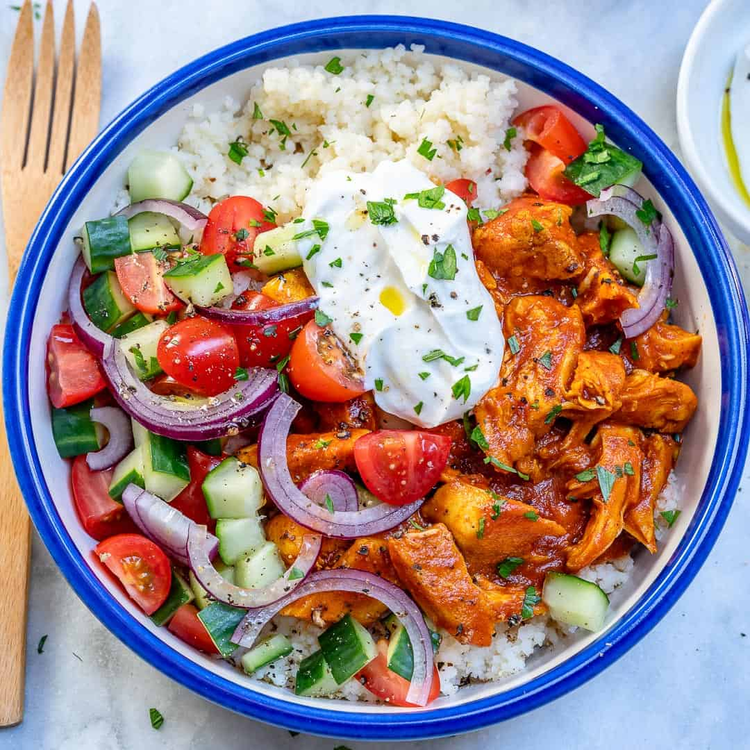 Moroccan chicken couscous bowl