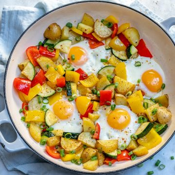 One-pan egg and veggie breakfast