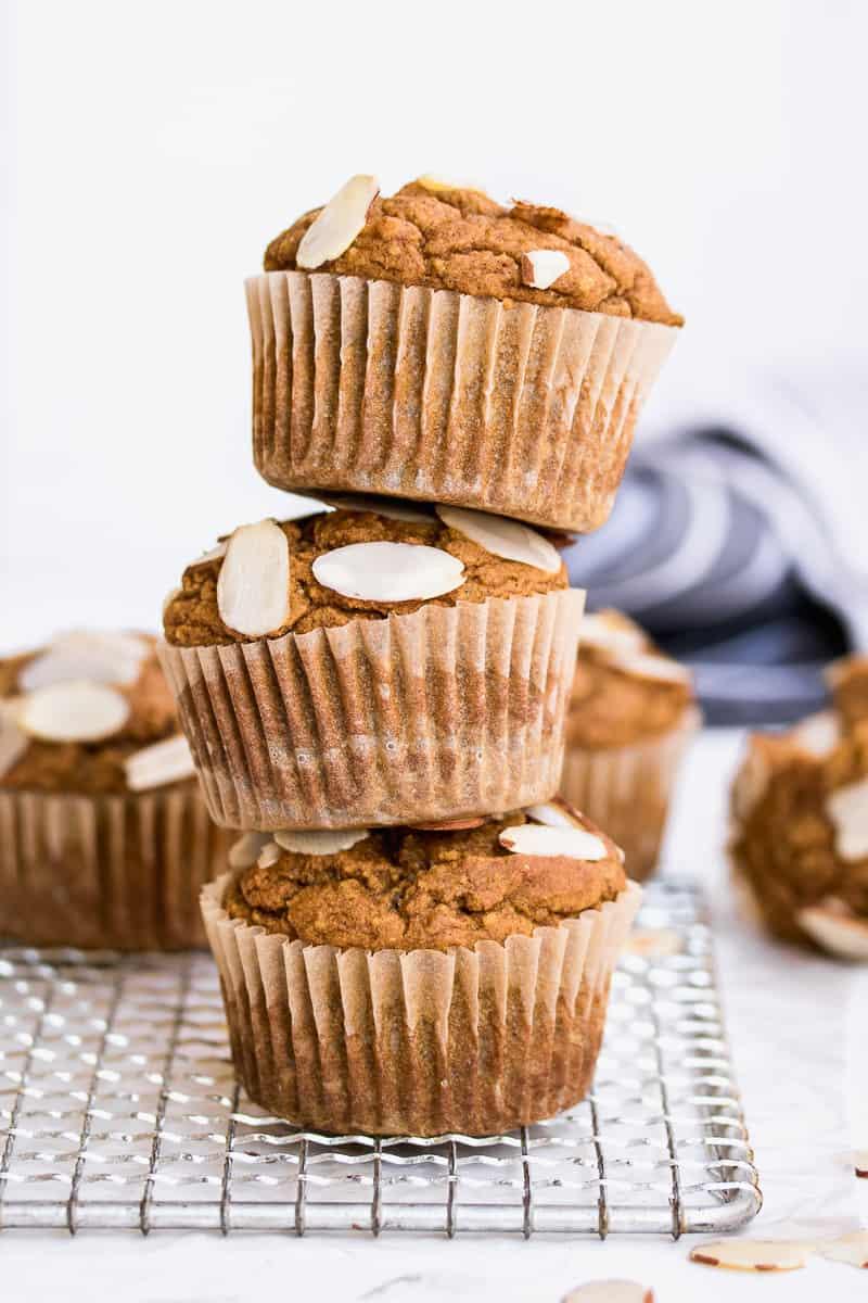 Stack of Gluten Free Pumpkin Muffins