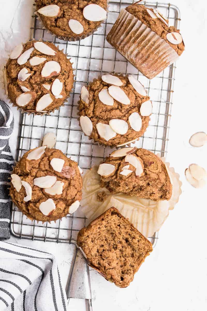 overhead shot of Gluten Free Pumpkin Muffins