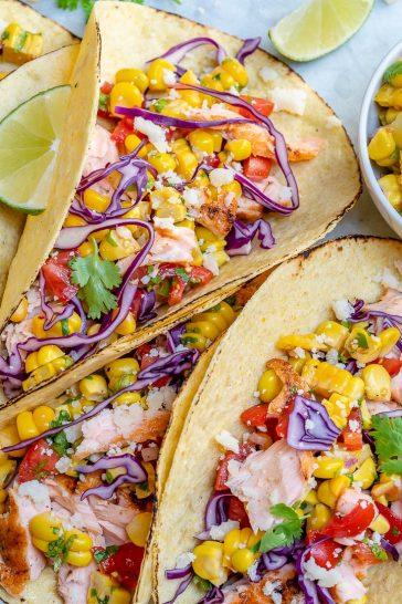 Salmon Tacos With Corn Salsa