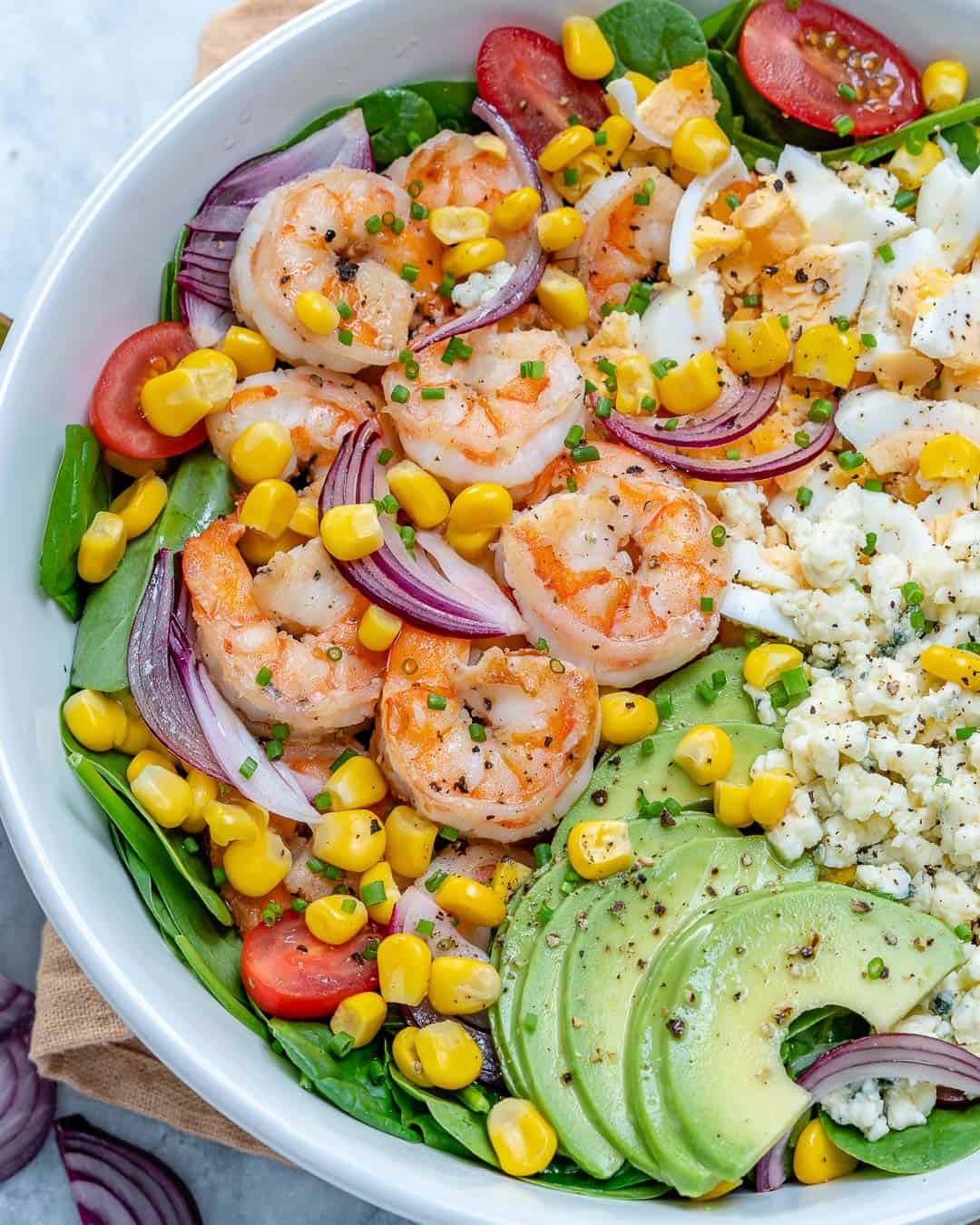 Delicious Spicy Shrimp Avocado Salad Recipe Healthy Fitness Meals