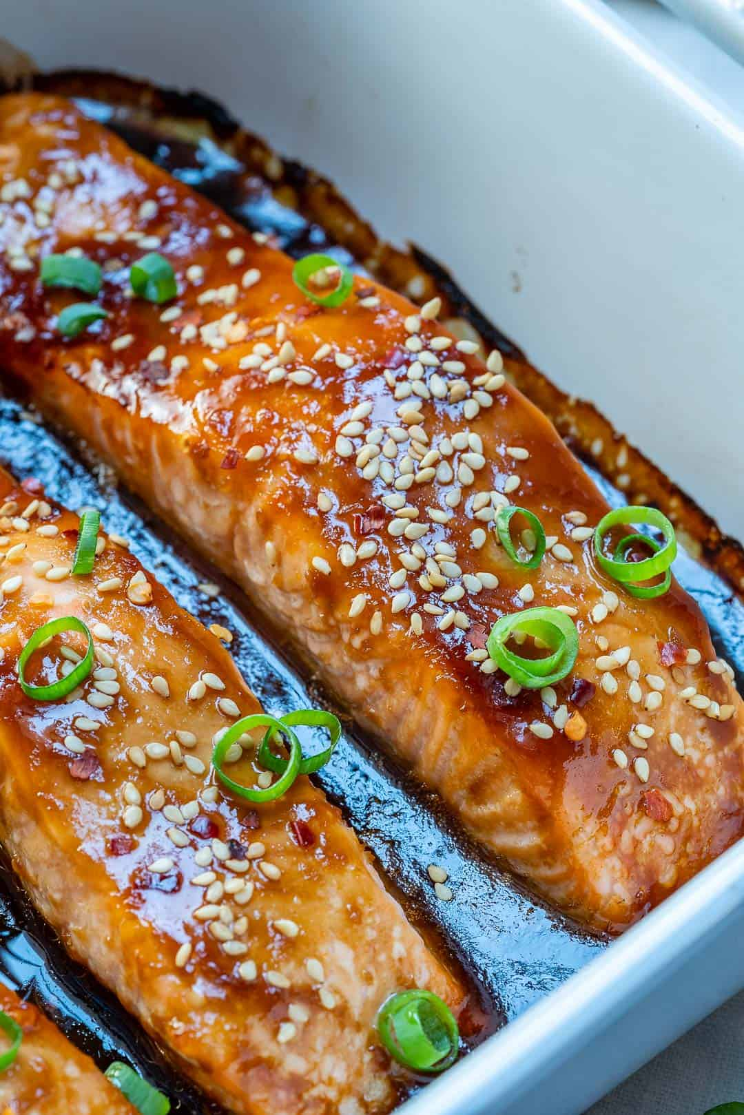 Baked teriyaki salmon