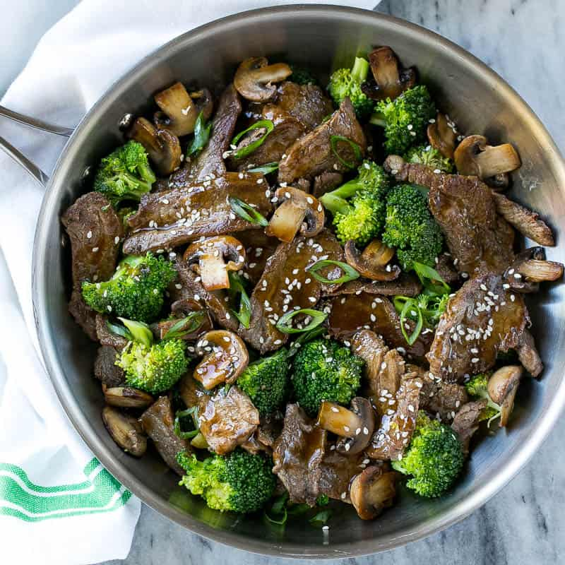 veggie and meat stir fry