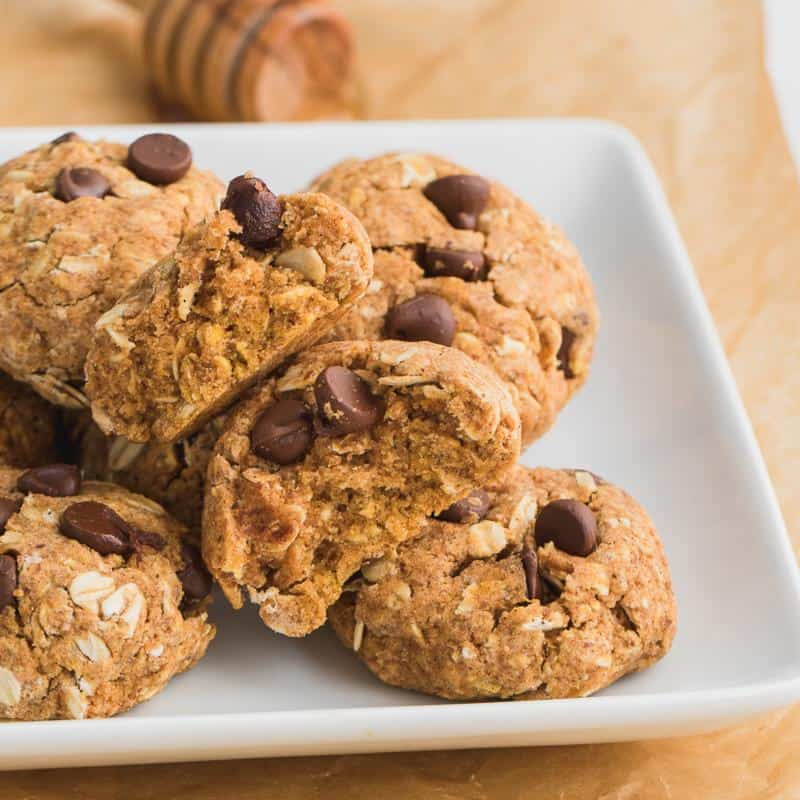 Healthy Chocolate Chip Pumpkin Cookies