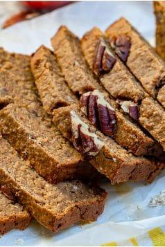 Healthy Apple Pecan Cinnamon Bread