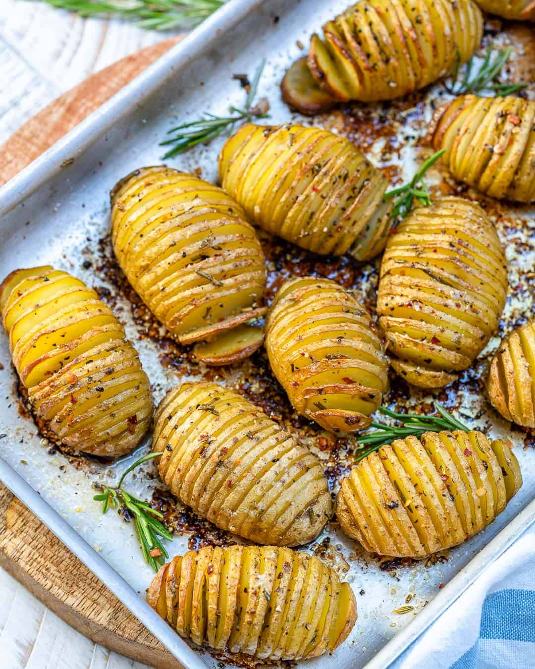 butter hasselback potatoes