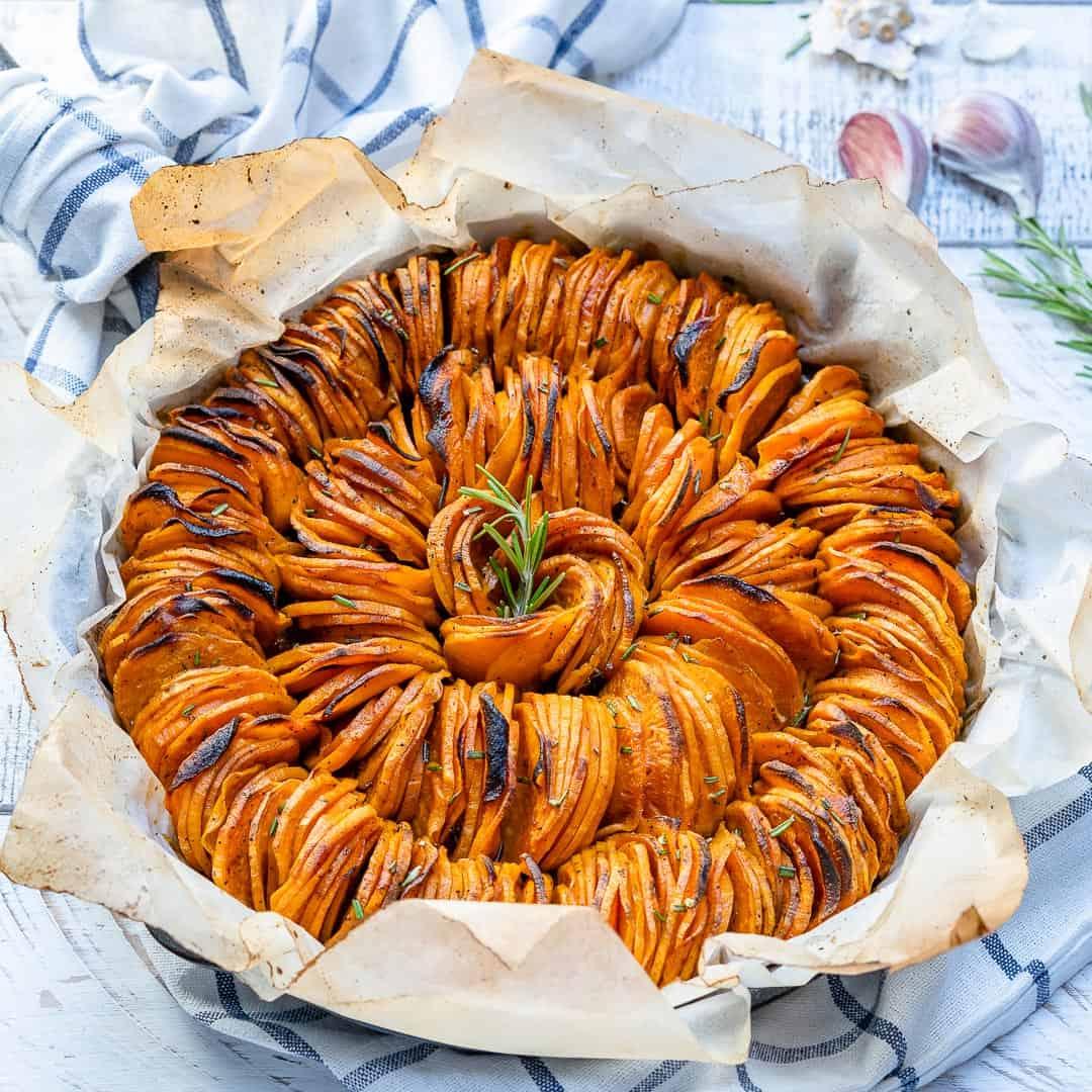 Roasted Smoked Sweet Potatoes