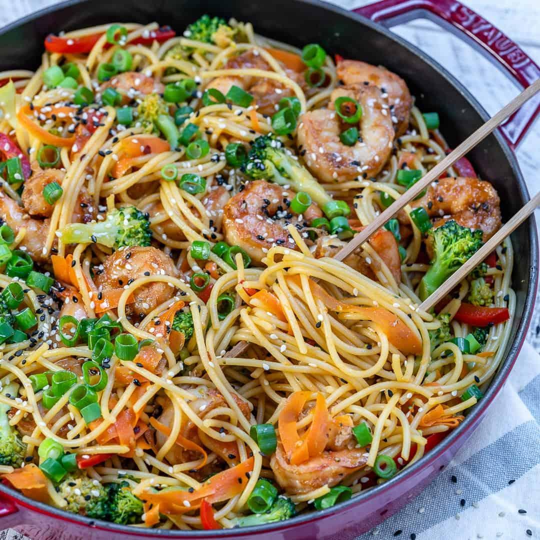 easy shrimp stir fry noodles