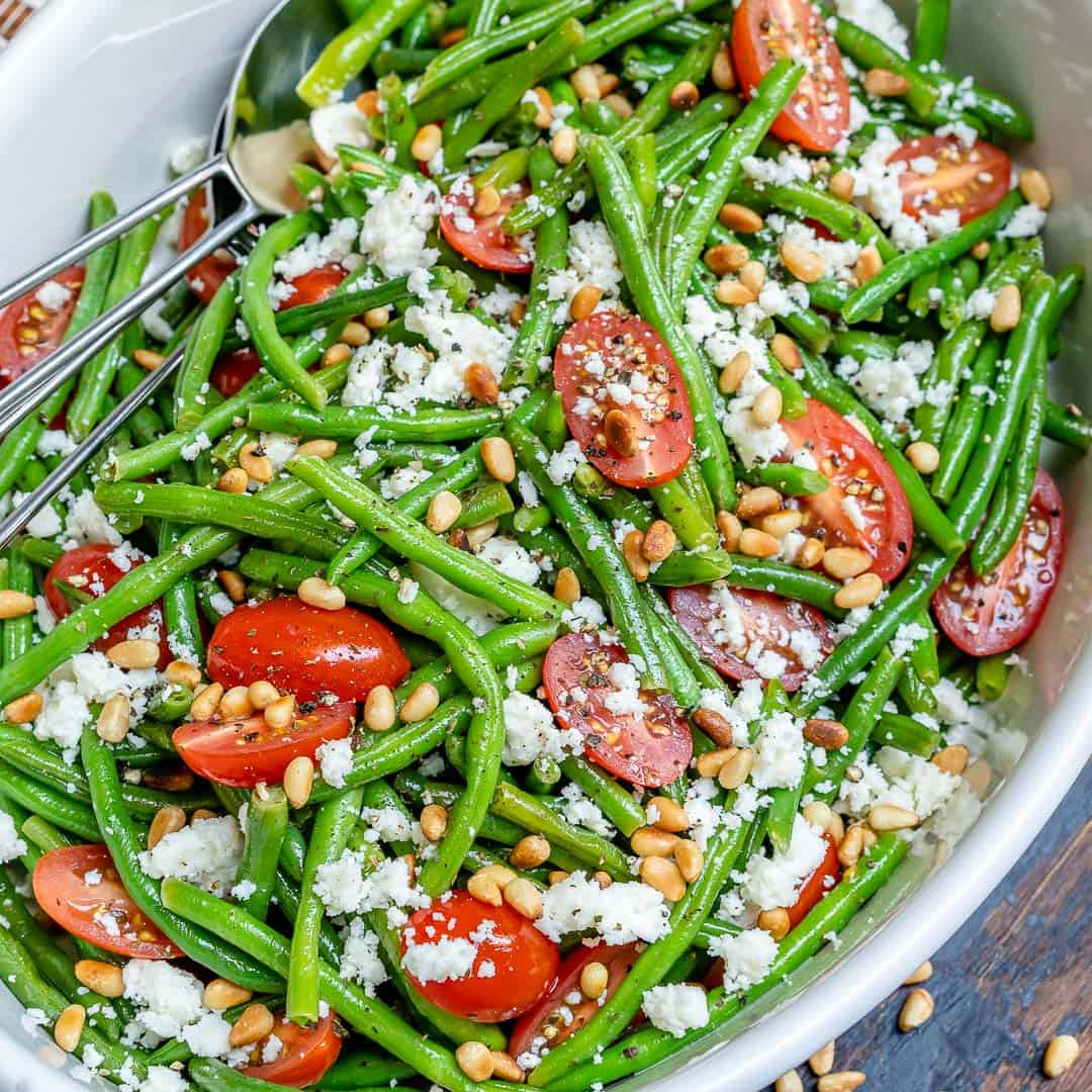Green beans and cherry tomato salad