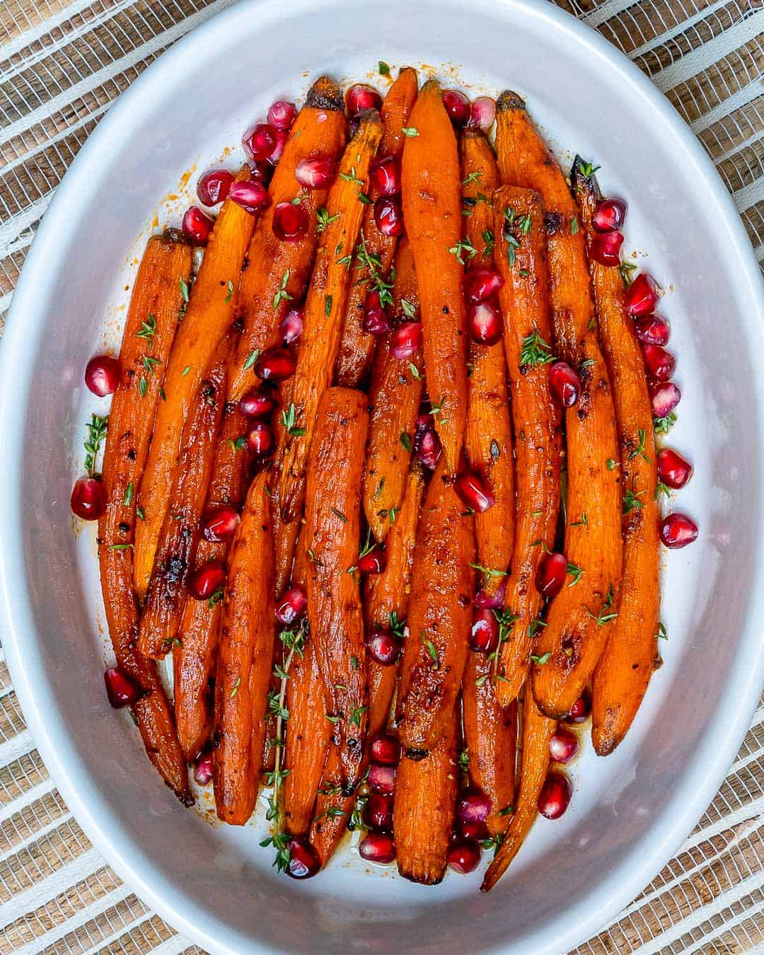 close up of Maple Glazed Carrots
