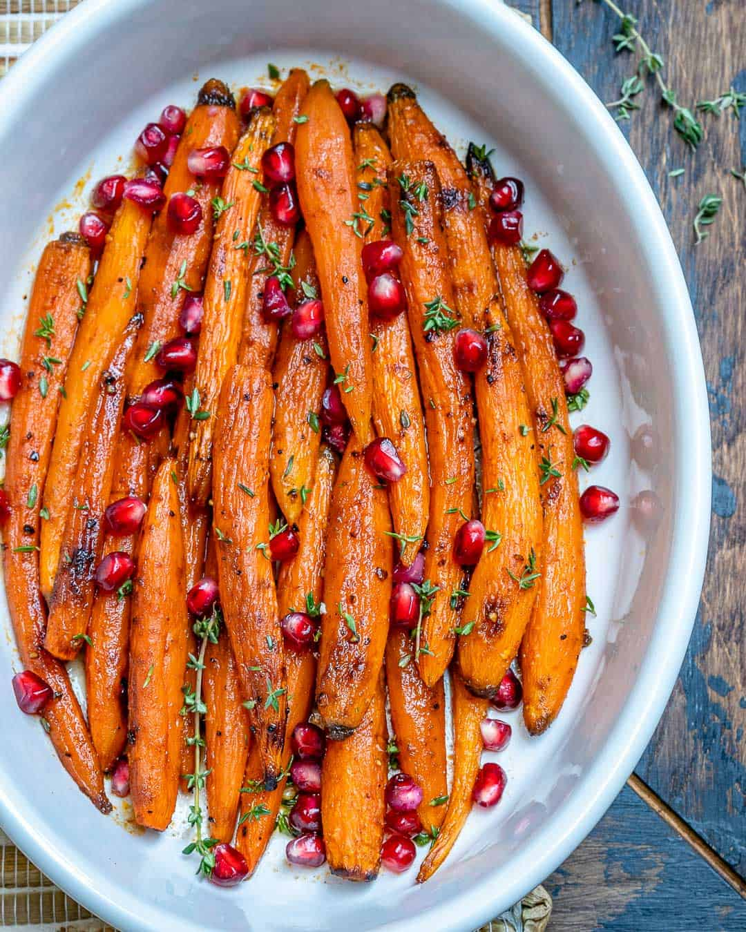 Maple Glazed Carrots in a dish
