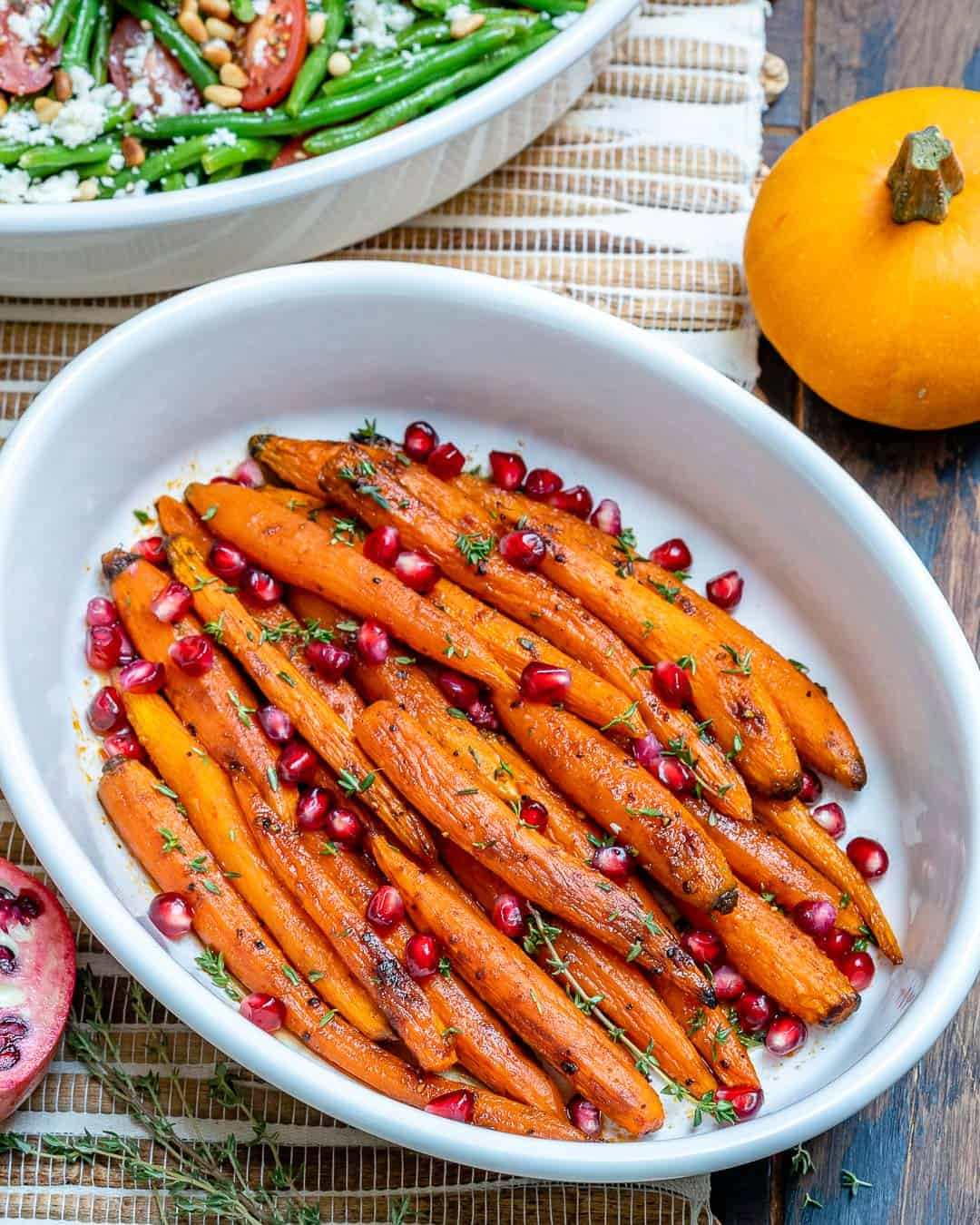 Maple Glazed Carrots in a white dish