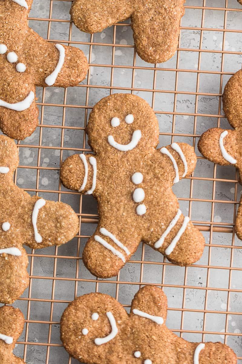 top down shot of vegan gingerbread cookies