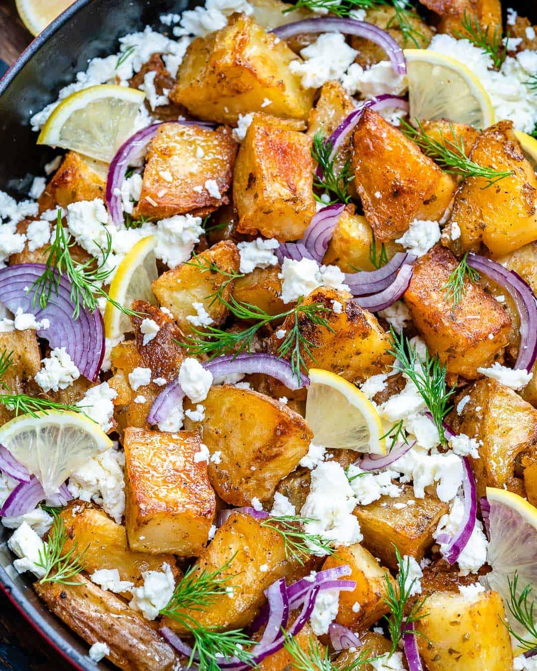 Crispy Greek potato bake