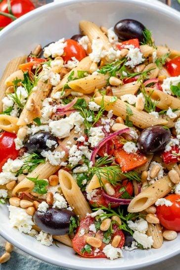 Greek cherry tomato pasta