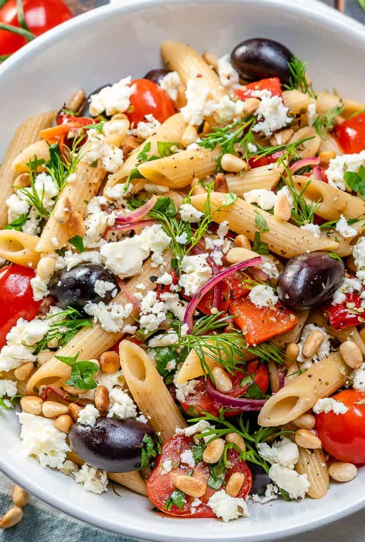 Greek cherry tomato pasta