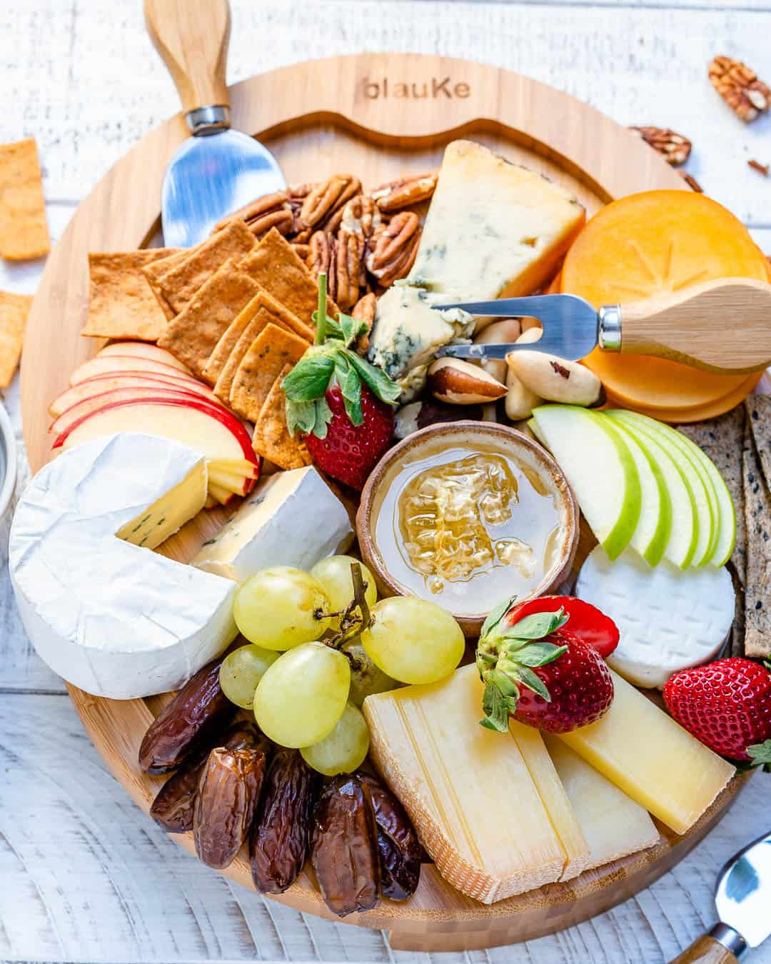 overhead shot of the Best Cheese Board