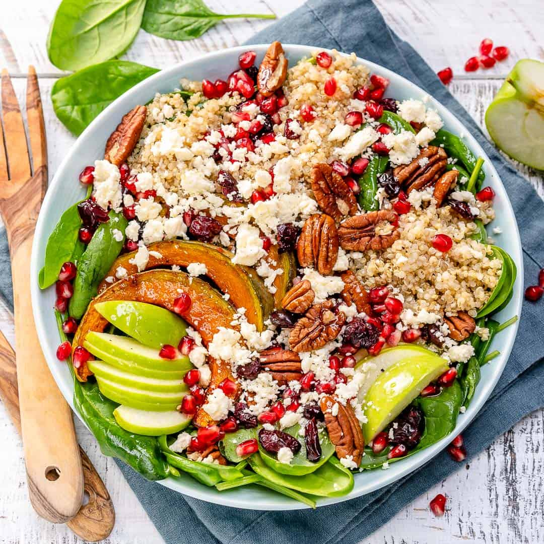 Harvest Quinoa Salad With Feta Easy Yummy Healthy Fitness Meals