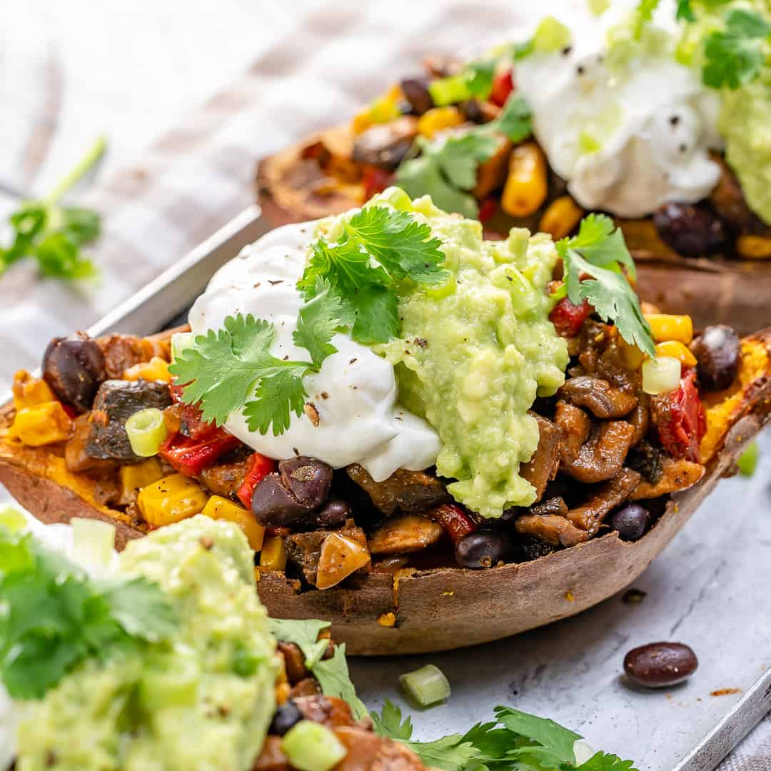 healthy stuffed sweet potatoes