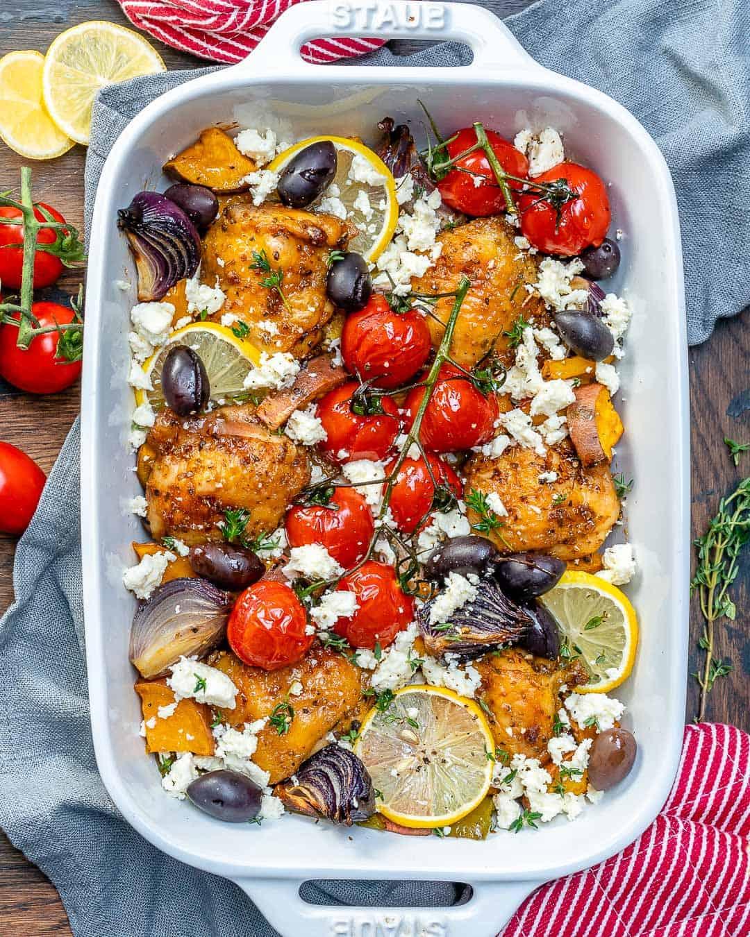 one pan greek chicken