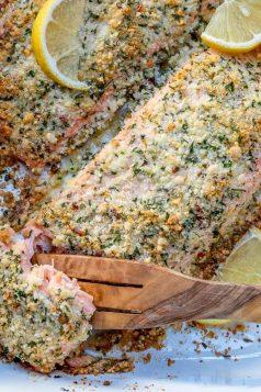 Crispy baked salmon