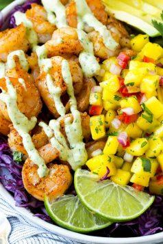 Shrimp Taco Bowls
