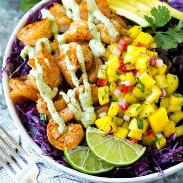shrimp taco bowl