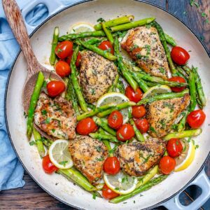 lemon garlic chicken with asparagus