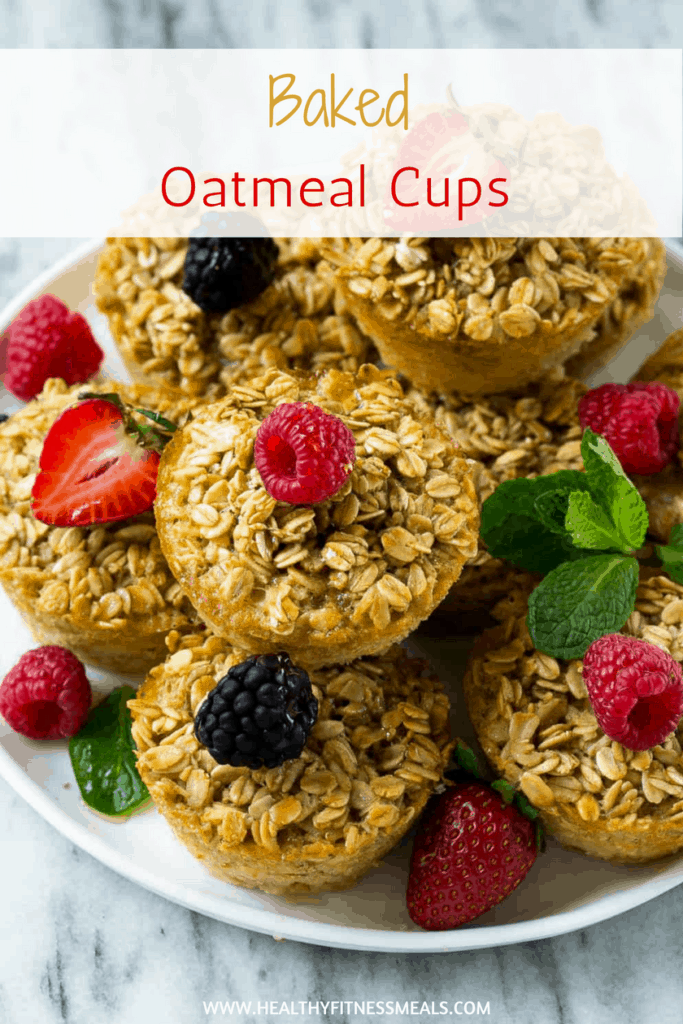 Baked Oatmeal Protein Muffins