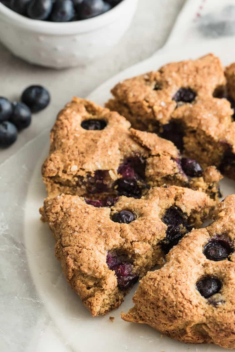 close up of gluten free scones